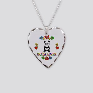 Panda Lover Necklace Heart Charm