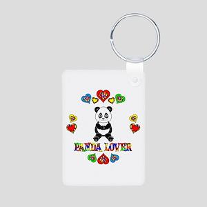 Panda Lover Aluminum Photo Keychain
