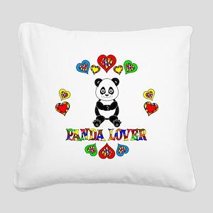 Panda Lover Square Canvas Pillow