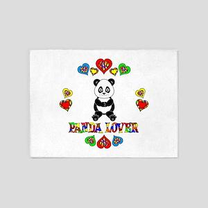 Panda Lover 5'x7'Area Rug