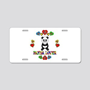 Panda Lover Aluminum License Plate