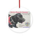 SERVICE DOGS Ornament (Round)