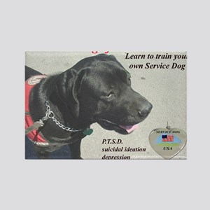 SERVICE DOGS Rectangle Magnet
