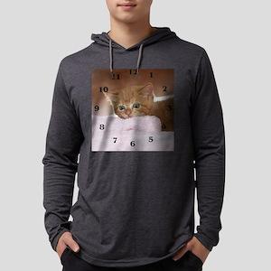 Ginger kitten for clock Mens Hooded Shirt
