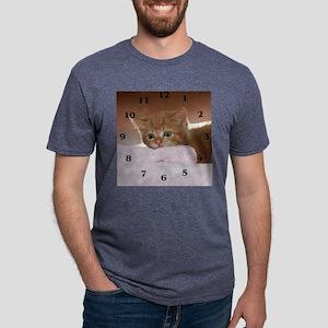 Ginger kitten for clock Mens Tri-blend T-Shirt