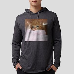 Ginger kitten for frisbee Mens Hooded Shirt