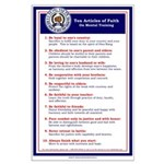 Ten Articles of Faith Large Poster