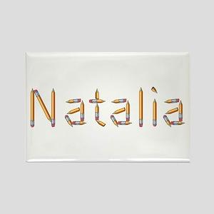 Natalia Pencils Rectangle Magnet