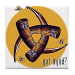 Gat Mjöð? Tile Coaster with Bees