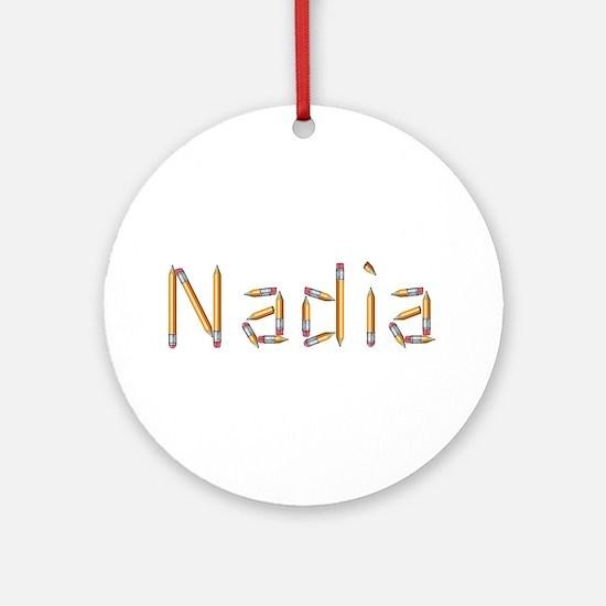 Nadia Pencils Round Ornament