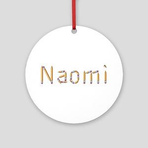 Naomi Pencils Round Ornament