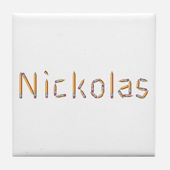 Nickolas Pencils Tile Coaster