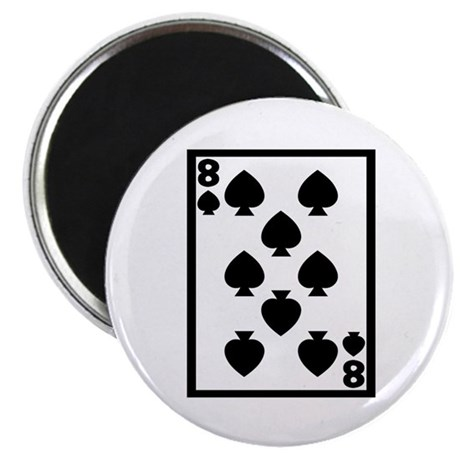 8 of spades Magnets