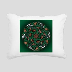 Wapiti Spin sqwd Rectangular Canvas Pillow