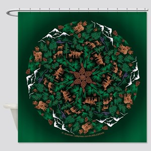Wapiti Spin sqwd Shower Curtain