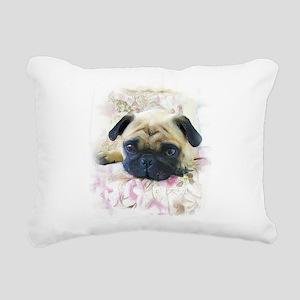 Pug Dog Rectangular Canvas Pillow