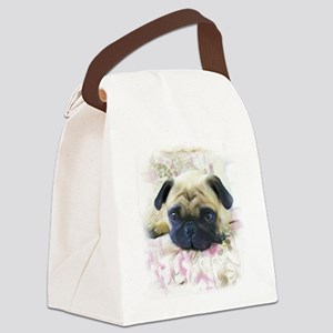 Pug Dog Canvas Lunch Bag
