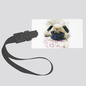 Pug Dog Large Luggage Tag