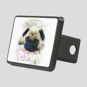 Pug Dog Rectangular Hitch Cover