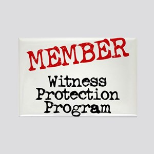 Member Witness Protection Pro Rectangle Magnet