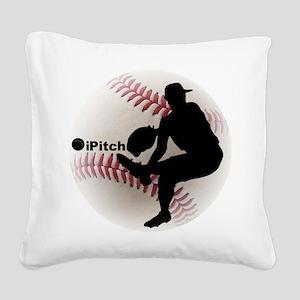 iPitch Baseball Square Canvas Pillow