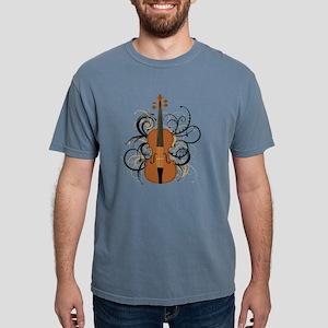 Violin Swirls Mens Comfort Colors Shirt