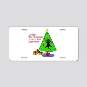 Catmas Experience Aluminum License Plate