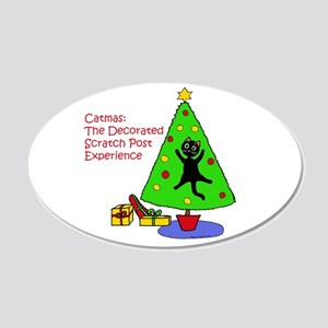 Catmas Experience 20x12 Oval Wall Decal