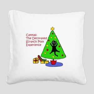 Catmas Experience Square Canvas Pillow
