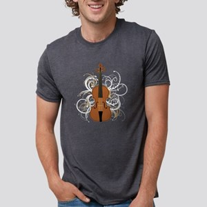 Violin Swirls (for dark col Mens Tri-blend T-Shirt