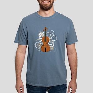 Violin Swirls (for dark  Mens Comfort Colors Shirt