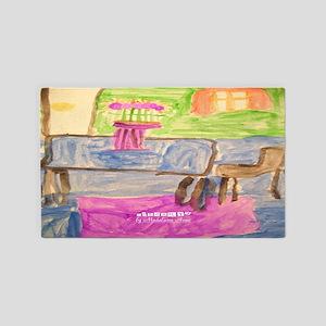 Watercolor Printemps Area Rug