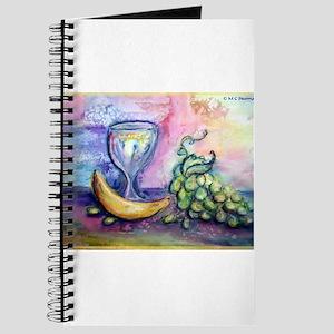 Wine, fruit, colorful art! Journal