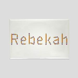 Rebekah Pencils Rectangle Magnet