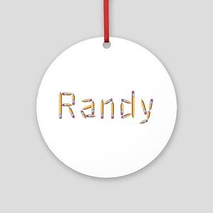 Randy Pencils Round Ornament