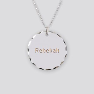 Rebekah Pencils Necklace Circle Charm
