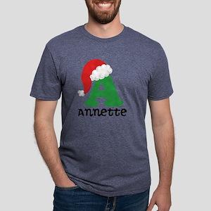 Christmas Personalized Sant Mens Tri-blend T-Shirt