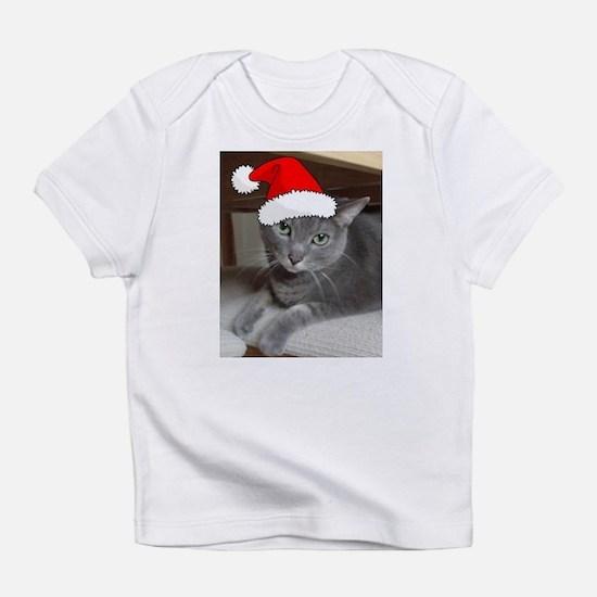 Christmas Russian Blue Cat Infant T-Shirt