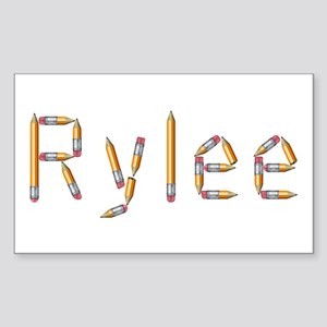 Rylee Pencils Rectangle Sticker