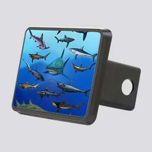 Shark Gathering Rectangular Hitch Cover