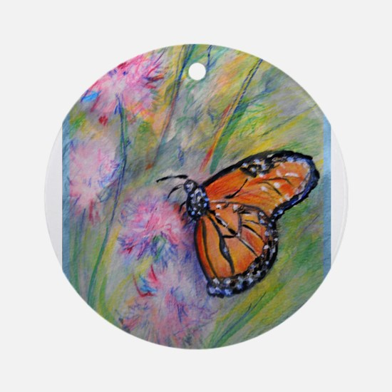 Bright, butterfly, art Ornament (Round)