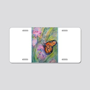 Bright, butterfly, art Aluminum License Plate