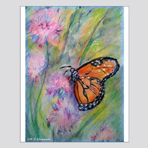 Bright, butterfly, art Small Poster