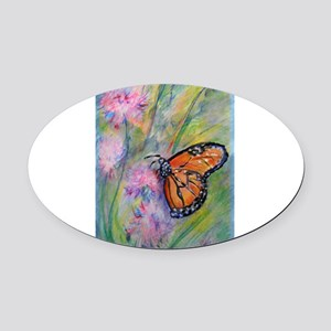 Bright, butterfly, art Oval Car Magnet