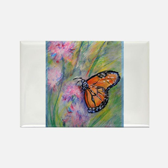 Bright, butterfly, art Rectangle Magnet
