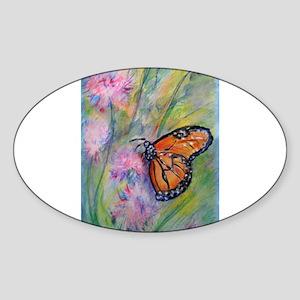 Bright, butterfly, art Sticker (Oval)