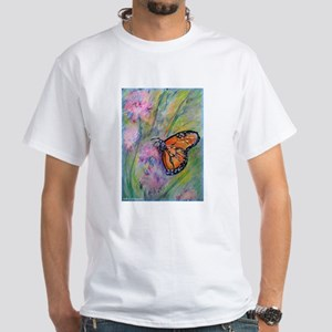 Bright, butterfly, art White T-Shirt