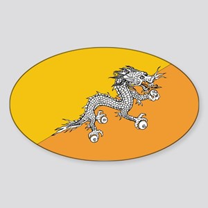 Bhutan Oval Sticker