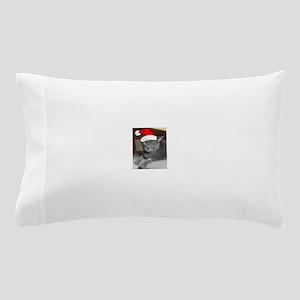 Christmas Russian Blue Cat Pillow Case