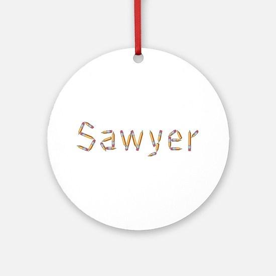 Sawyer Pencils Round Ornament